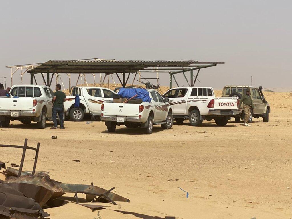 شركة المبروك للعمليات النفطية      تعلن عن البدء في عمليات مسح للألغام ومخلفات الحرب